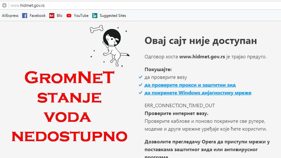 Problem na Gromnet internet mreži