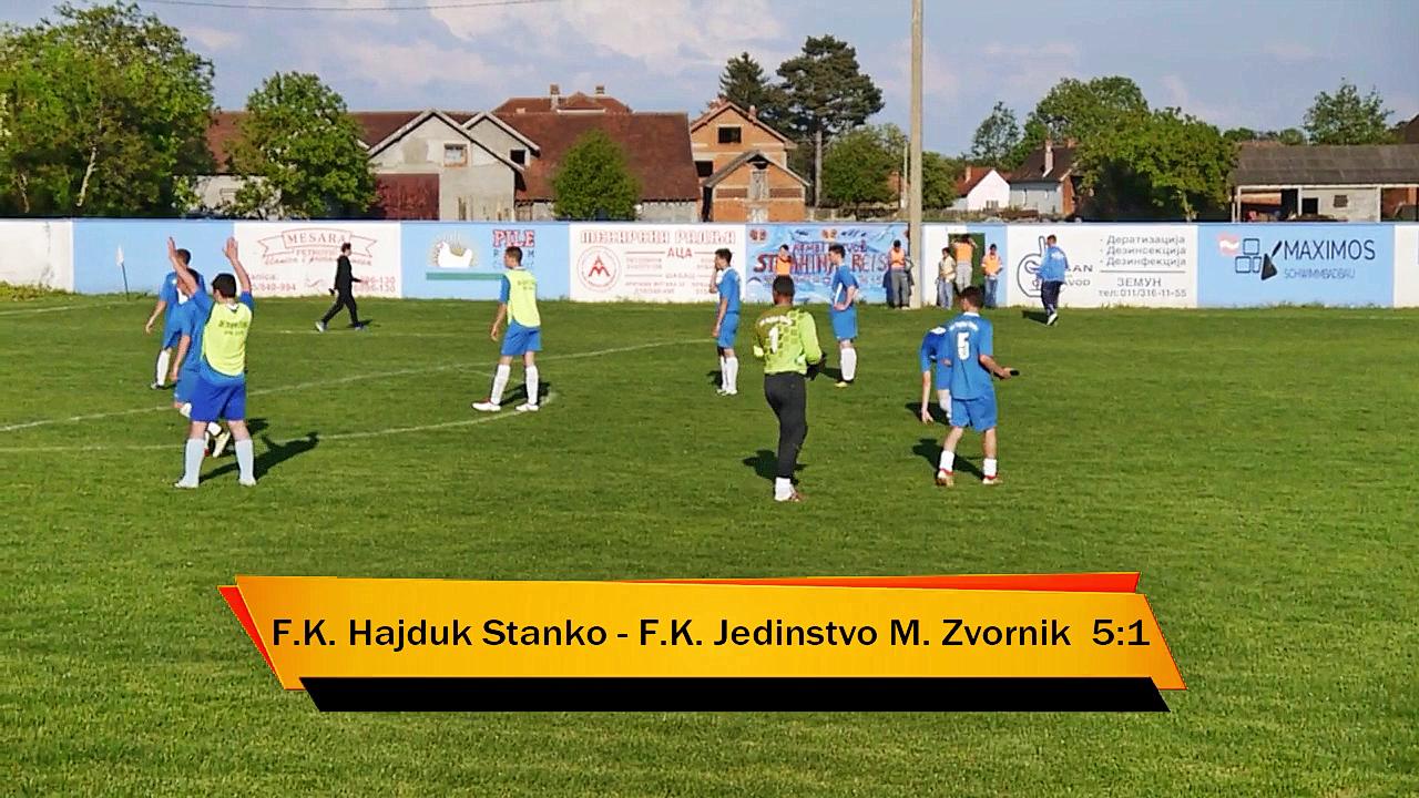 ФК ХАЈДУК СТАНКО 5:1 ФК ЈЕДИНСТВО (МЗ) (3:0) Стадион у Црној Бари.