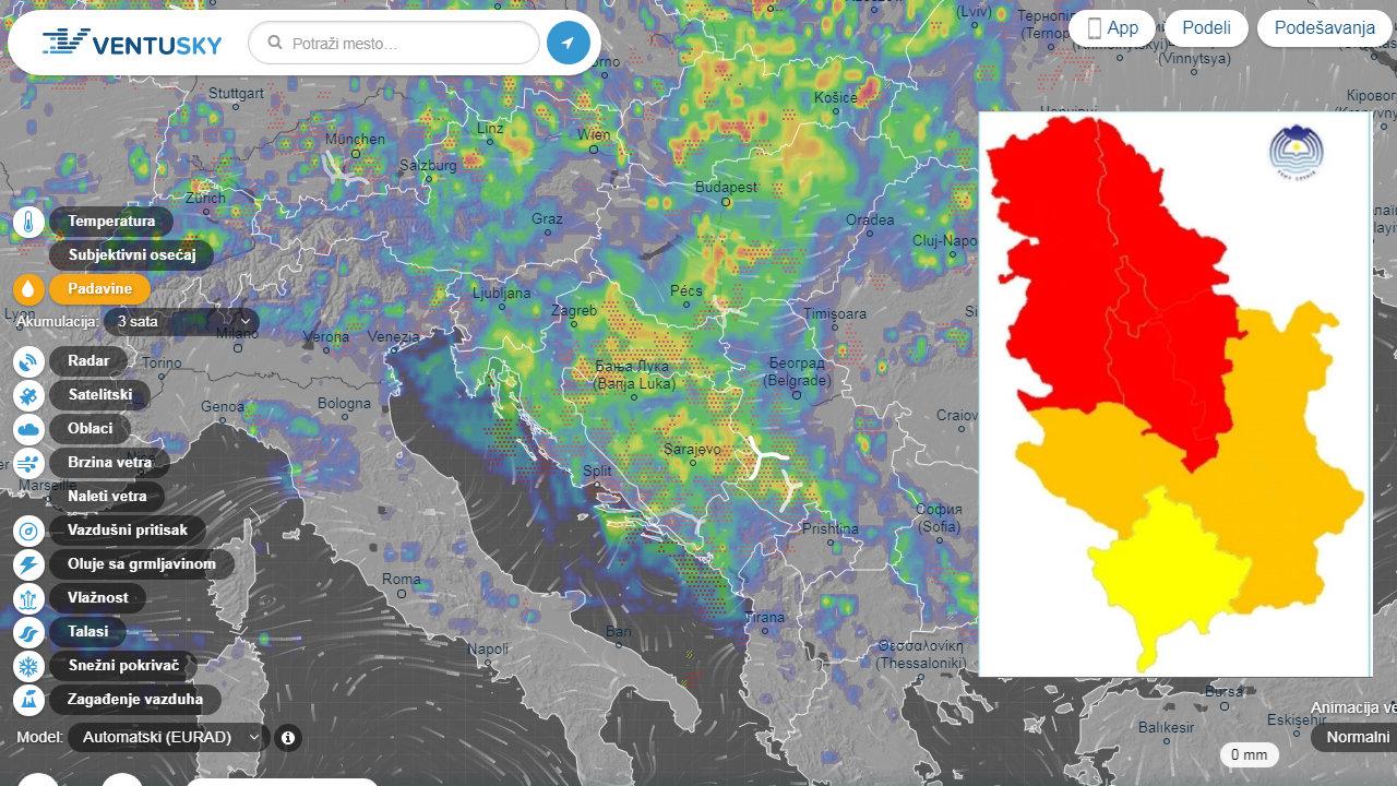 CRVENI METEOALARM Stiže nam strašno nevreme iz Bosne!